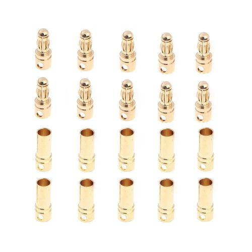 Good  Pairs mm Copper Bullet Banana Plug Connectors Male Female for RC Motor ESC