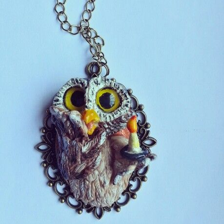 Scared Owl necklace