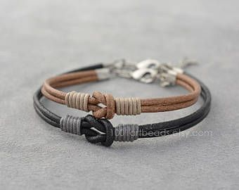 8b5baa5d8f122 Leather Couples Bracelet | 3rd Anniversary - Leather | Couple ...
