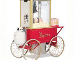 Goldmedal pop corn  machine on wheels