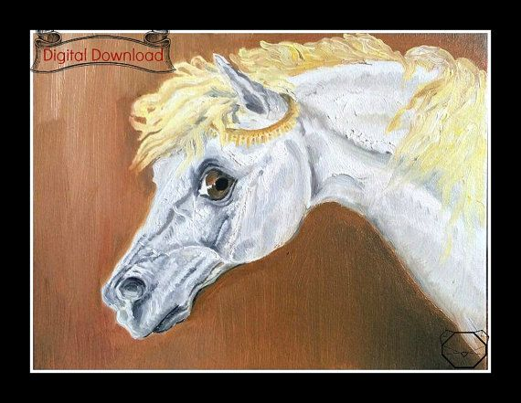 Instant Download Horse Painting Printable Art  by KubuHandmade