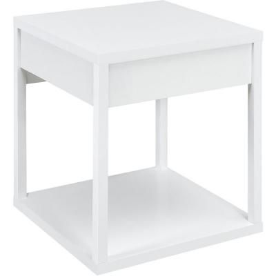 Parsons White End Table