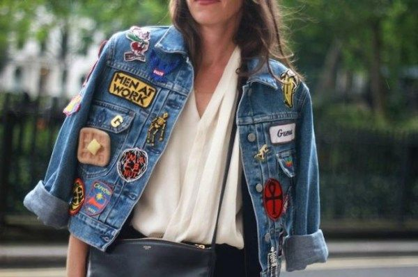 How to DIY a Denim Jacket Covered in Patches | StyleCaster