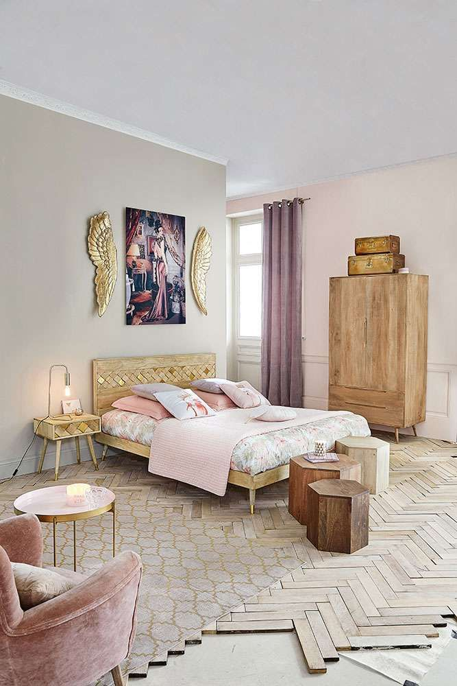 great cette chambre magique de maisons du monde nous fait rveru ambiance boudoir au rendez with. Black Bedroom Furniture Sets. Home Design Ideas