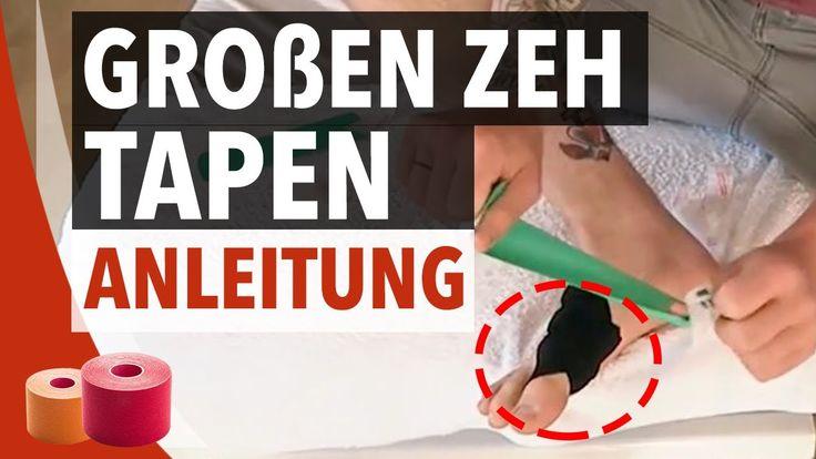 Großen Zeh Tapen Anleitung - Kinesiologie Tape Anleitung für Großzehgrundgelenk - YouTube