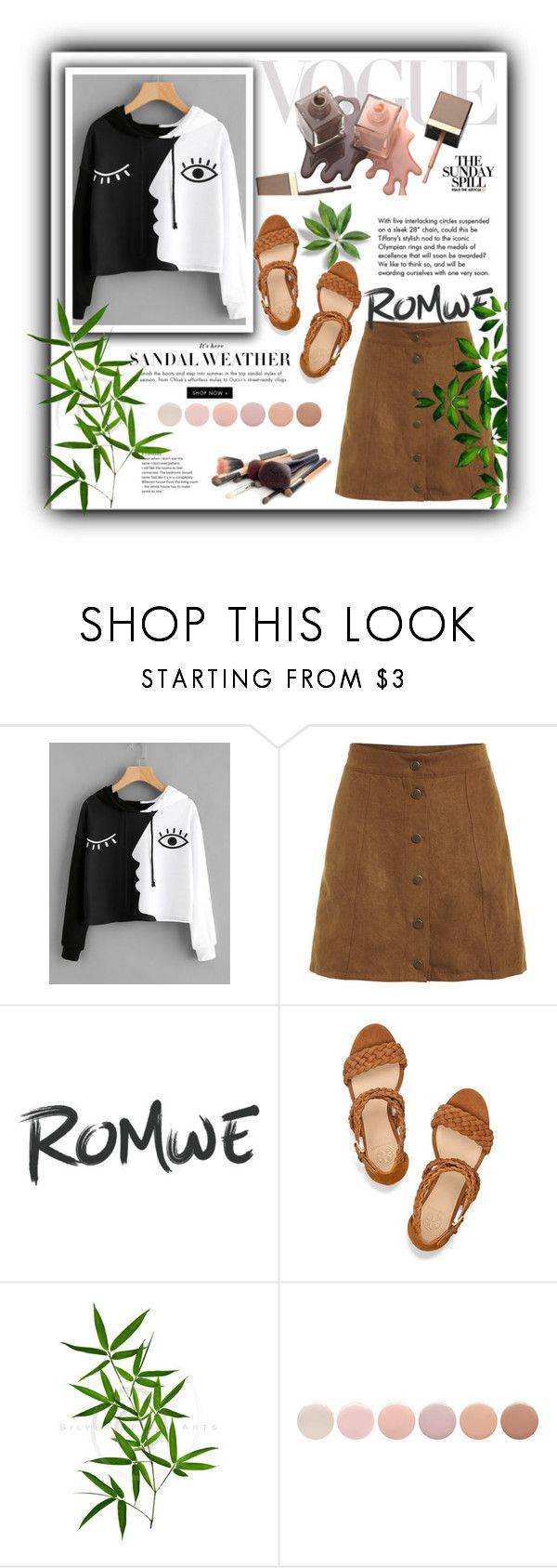 """""""ROMWE"""" by lamifashion ❤ liked on Polyvore featuring Tory Burch, Tiffany & Co. and Deborah Lippmann"""