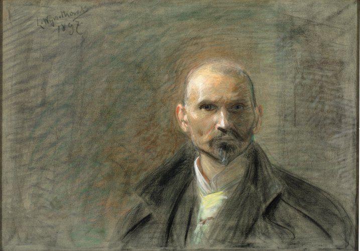 Leon Wyczółkowski, Autoportret w płaszczu (na odwrocie portret Sulimy), 1897 #artist #selfportrait 3MNK