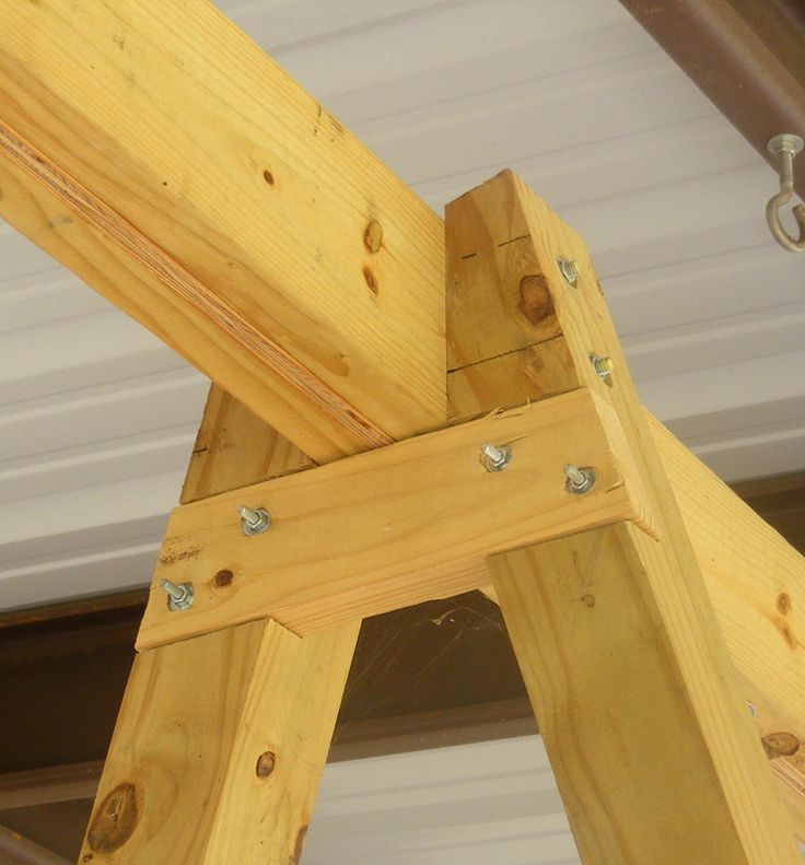 building a tall swing frame porch swing a frame diy