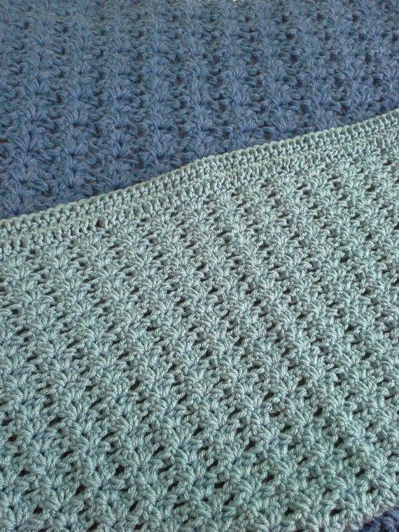 Blue baby afghan baby boy blanket crochet by BloomingRoseCrochet. $24.00                                                                                                                                                                                 More