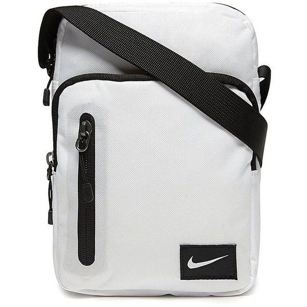 Nike Core Small Items Bag ($25) ❤ liked on Polyvore featuring bags, handbags, shoulder bags, white, nike purse, nike shoulder bag, white shoulder bag, white purse and nike handbags