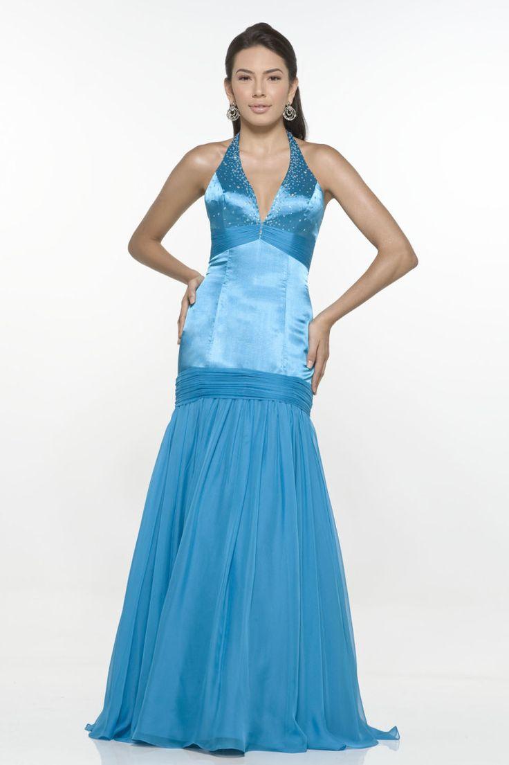 28 best Sensational Soft Blue Evening Dresses images on Pinterest ...