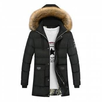 91224b65d9a88 2017 Plus size Winter Warm Trench Jacket Men Fashion Hooded Pure Cotton Male  Long Coat Thick Warm Homme Casual Jacket