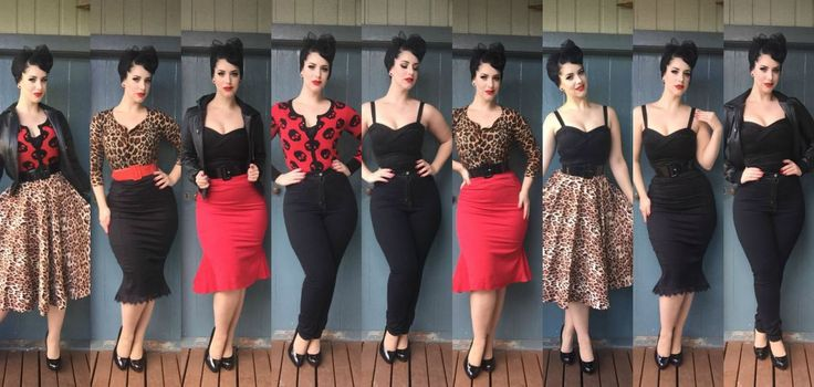 Capsule Wardrobe: 10 items, 26 outfits for Rockabilly fashion. Miss Victory Violet.