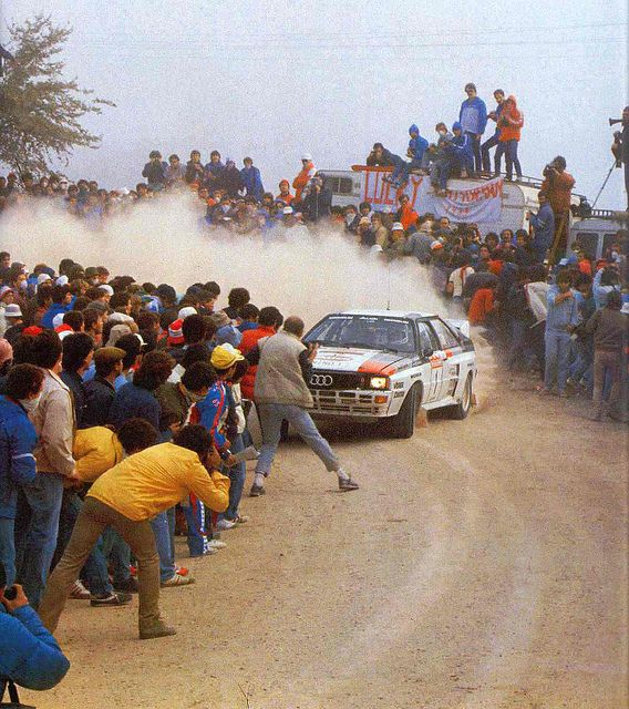 Audi Quattro of Hannu Mikkola at 1983 Rally Portugal