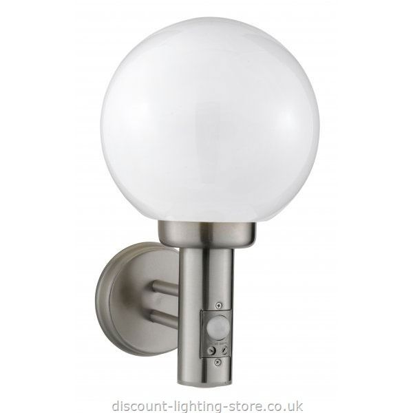 Outdoor Lighting Wall Lights And Porch Exterior Stainless Steel Light With Globe Shade Motion Sensor Outdoors
