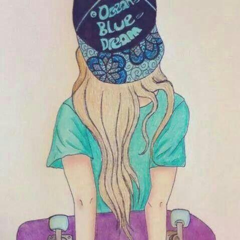 Longboard Girl Wallpaper My Baby S Whatsapp Profile Skeksi Dibujos De Chicas