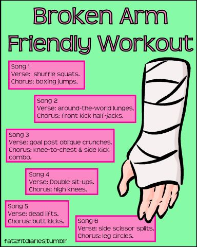 Broken-Arm Friendly Workout