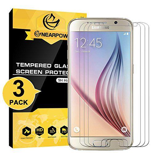 cool  Samsung Galaxy S6 Protector de Pantalla, NEARPOW  Cristal Templado Protector de Pantalla para Samsung Galaxy S6, Vidrio templado con   [Sin burbuja