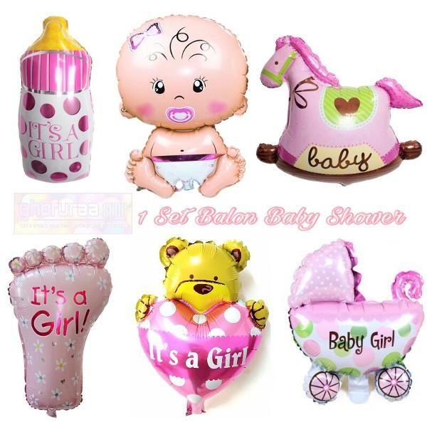 Jual Beli Balon Foil Baby Shower 1 set baby Girl atau Dekorasi Pesta karakter bayi perempuan pink beruang cinta dot kaki kuda kereta bayi by ghofuraa shop Baru | Peralatan Dekorasi Rumah Murah |  Bukalapak