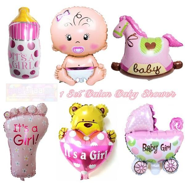 Jual Beli Balon Foil Baby Shower 1 set baby Girl atau Dekorasi Pesta karakter bayi perempuan pink beruang cinta dot kaki kuda kereta bayi by ghofuraa shop Baru   Peralatan Dekorasi Rumah Murah    Bukalapak