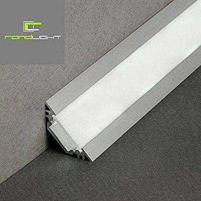 LED Profil TRIO T ALU 2m Eloxiert Weisse Abdeckung SET Amazonde Beleuchtung