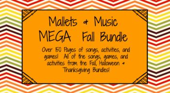 A HUGE collection of some of my favorite activities for the entire fall season. This bundle includes activities from my Fall, Halloween, and Thanksgiving Bundles: Fall: Compose a Fall Chant Apple Tree - Rhythm & Melody Pumpkin Rhythm Bundle - Quarter, Eighth, Sixteenth, Syncopa practice Falling Leaves - 3/4 Meter & Dotted Half note Let Us Chase the Squirrel - Half Note & Re 5 Little Pumpkins - Song game & composition worksheet Pumpkin Patch - Rhythm chant ...