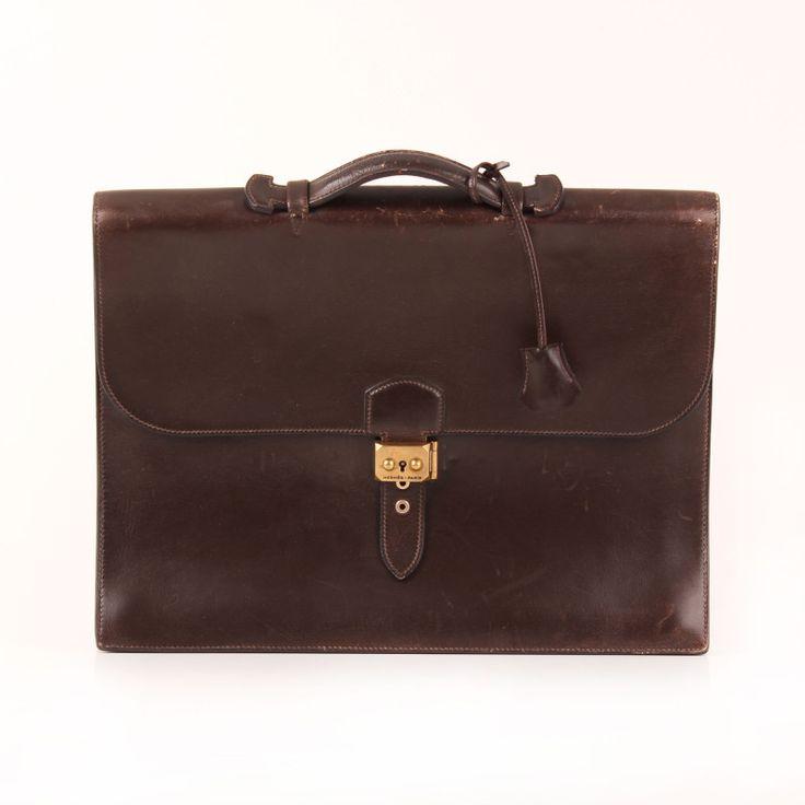 """Hermès Briefcase """"Sac à Dépêche""""."""