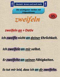 German grammar - Zweifeln
