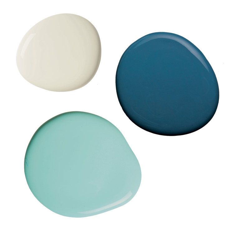 Ocean, Mint, and Light Gray Paint Palette - 4 Nautical Navy Blue Color Schemes - Coastal Living