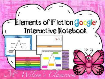 This is a Google digital interactive notebook full of various graphic organizers that will help your students organize their information in Google Slides based on the elements of fiction. It will also aid students in analyzing any piece of fiction. Interactive notebooks are effective in the classroom as they assist students in becoming digital citizens, keeping their
