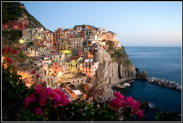 Fantastic view from Cinque Terre, Italy.. but think before jumping into the water readily since it can be quite dirty