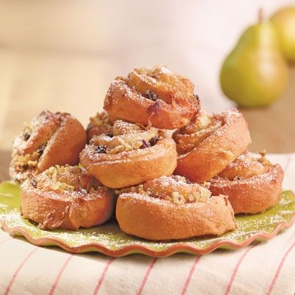 Pear Fritters - vegan. Use any vegan dough recipe with it. I have several on my vegan bread board, if you need one. :)