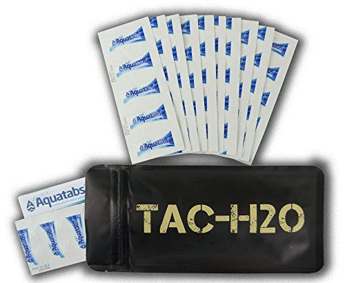 TAC-H2O Refill - 100 Aquatab Water Purification Tablets - By Tac-Bar Tactical Food Rations >>> Check out the image by visiting the affiliate link Amazon.com on image.