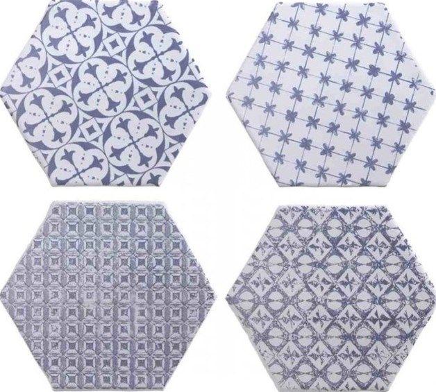 Meer dan 1000 idee n over zeshoekige tegel op pinterest badkamer zeshoekige tegels en metrotegels - Patroon cement tegels ...