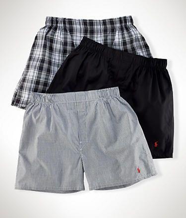 Polo Ralph Lauren: Classic Cotton Woven Boxers 3-Pack