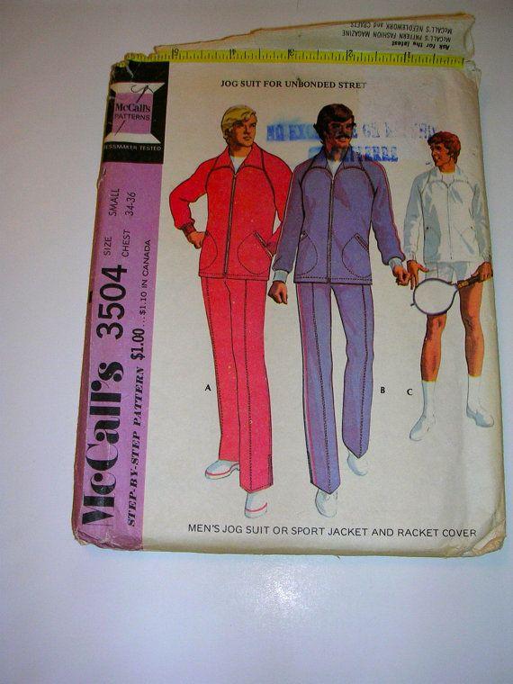 Men's Jog Suit or Sport Jacket & Racket Cover Size Small 34-36