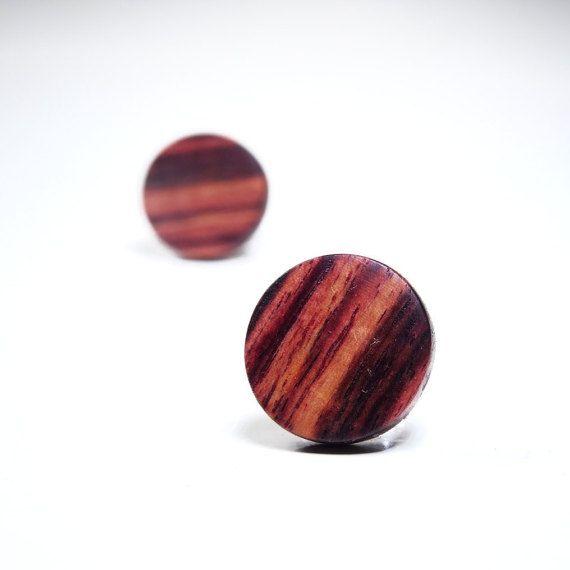 Boucles d'oreilles en bois de Violette  // par DesChosesEnBois