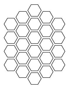 Honeycomb pattern. Use the printable outline for crafts, creating stencils, scrapbooking, and more. Free PDF template to download and print at http://patternuniverse.com/download/honeycomb-pattern/