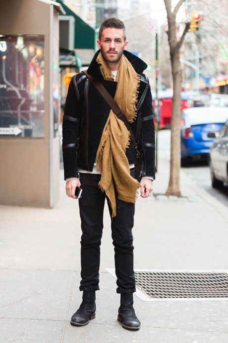 Street Style: Suede J.D. Fiskes and Shearling Topman Jacket : The Daily Details: Blog