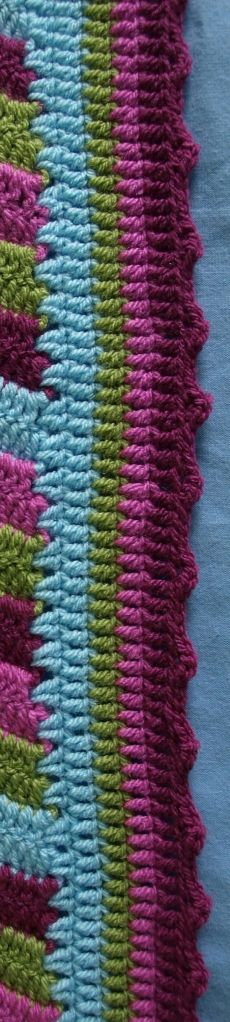 crochet blanket edging - my edging is getting better but this is lovely!