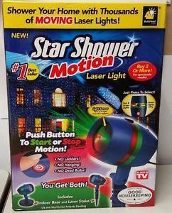 a star shower motion laser light projector wredor green lights new sealed box