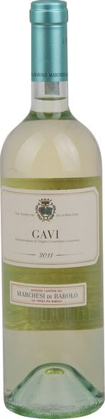 In stock - 15,45€ 2011 Marchesi di Barolo Gavi, white dry , Italy - 87pt Most known white wine from region Piemonte from village with the same name. Made out of variety Cortesa. Has light, green-yellow colour with beautiful fruity aroma reminding apples Golden. In taste is dry, fresh, elegant and balanced.