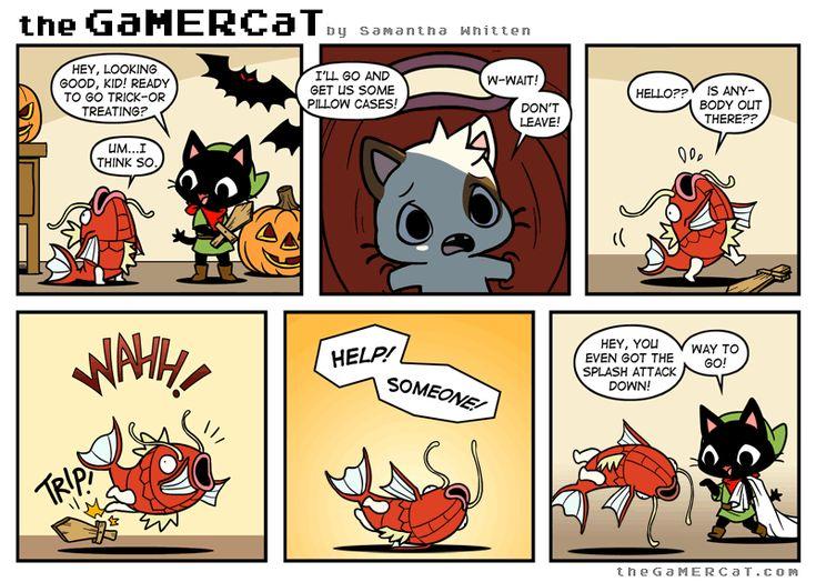 GaMER CaT. He's a cat. He plays video games. Episode 98- Making a Splash. Happy Halloween!