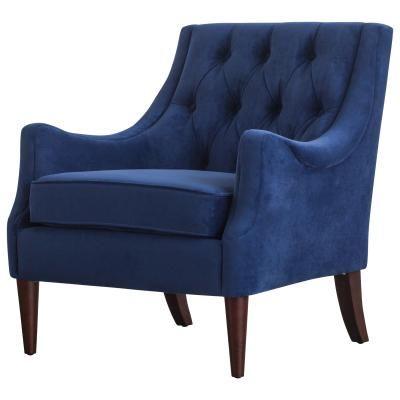 Best 1900121 347 Marlene Kd Velvet Fabric Tufted Accent Chair 400 x 300