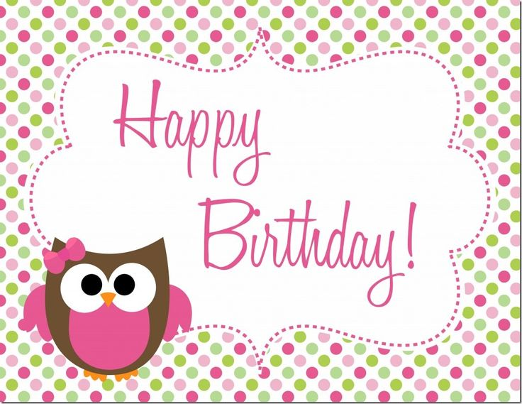 Owl Birthday Party : Free Printables