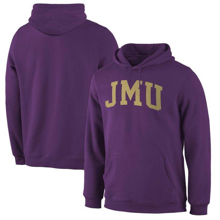 James Madison Dukes Fanatics Branded Basic Arch Expansion Hoodie - Purple