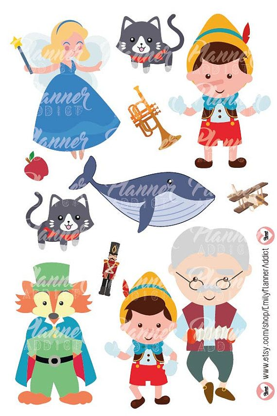 60% OFF SALE Pinocchio clipart by SuperPlannerAddict on Etsy