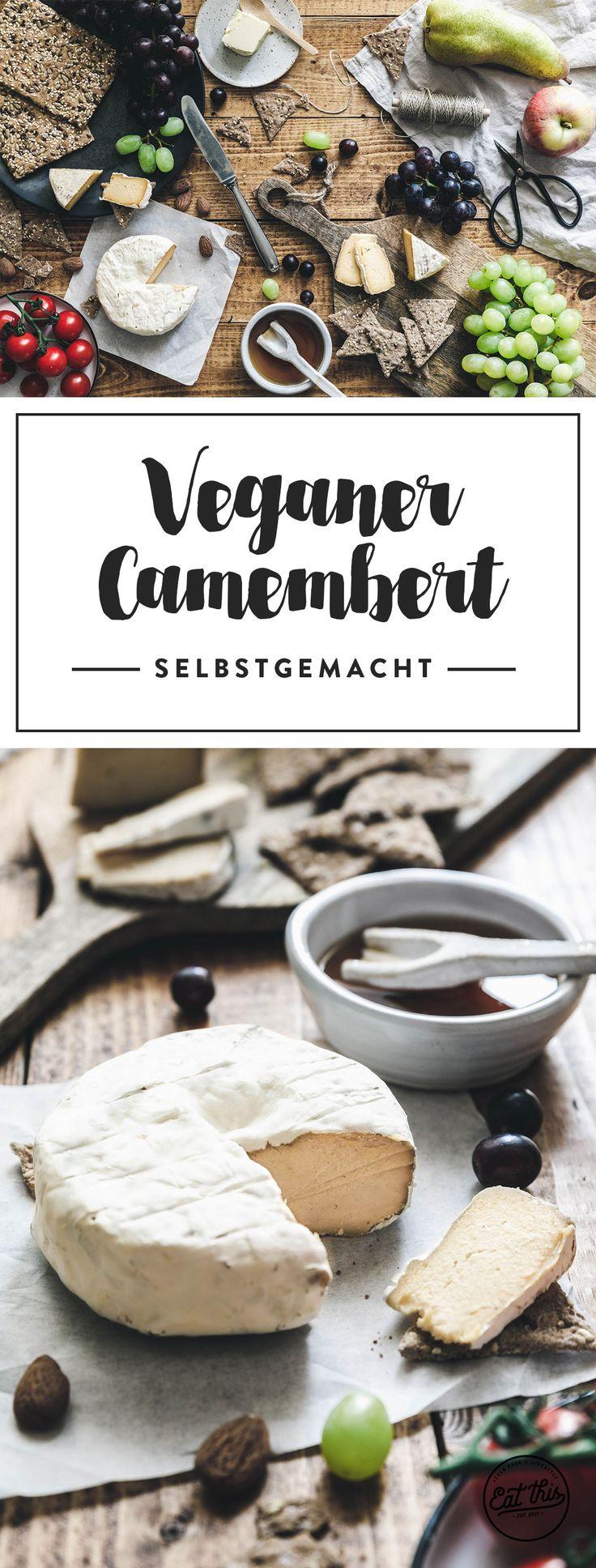 Selbstgemachter veganer Camembert – super-cremig und wahnsinnig lecker.