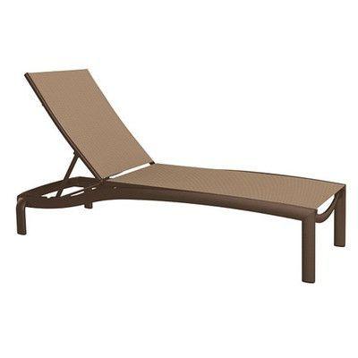 Tropitone KOR Chaise Lounge Fabric: East Wood, Finish: Greco