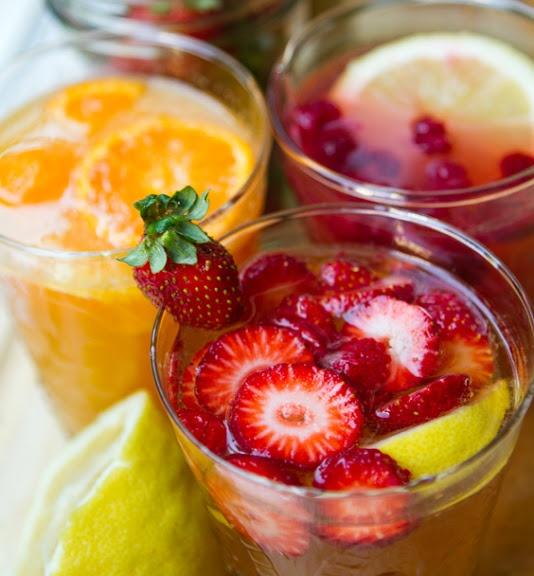 Agua Frescas - Citrus Peach, Coconut Raspberry, and Strawberry Lemon